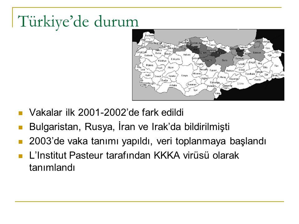 Türkiye'de durum Vakalar ilk 2001-2002'de fark edildi