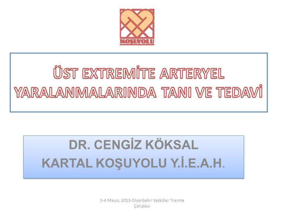 ÜST EXTREMİTE ARTERYEL YARALANMALARINDA TANI VE TEDAVİ