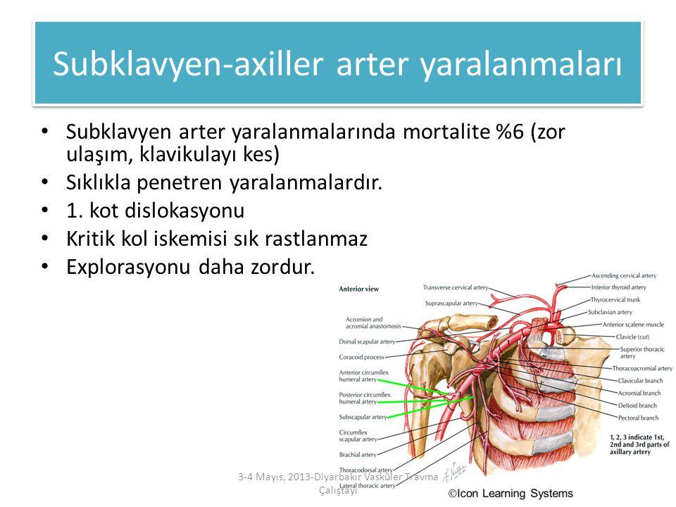 Subklavyen-axiller arter yaralanmaları