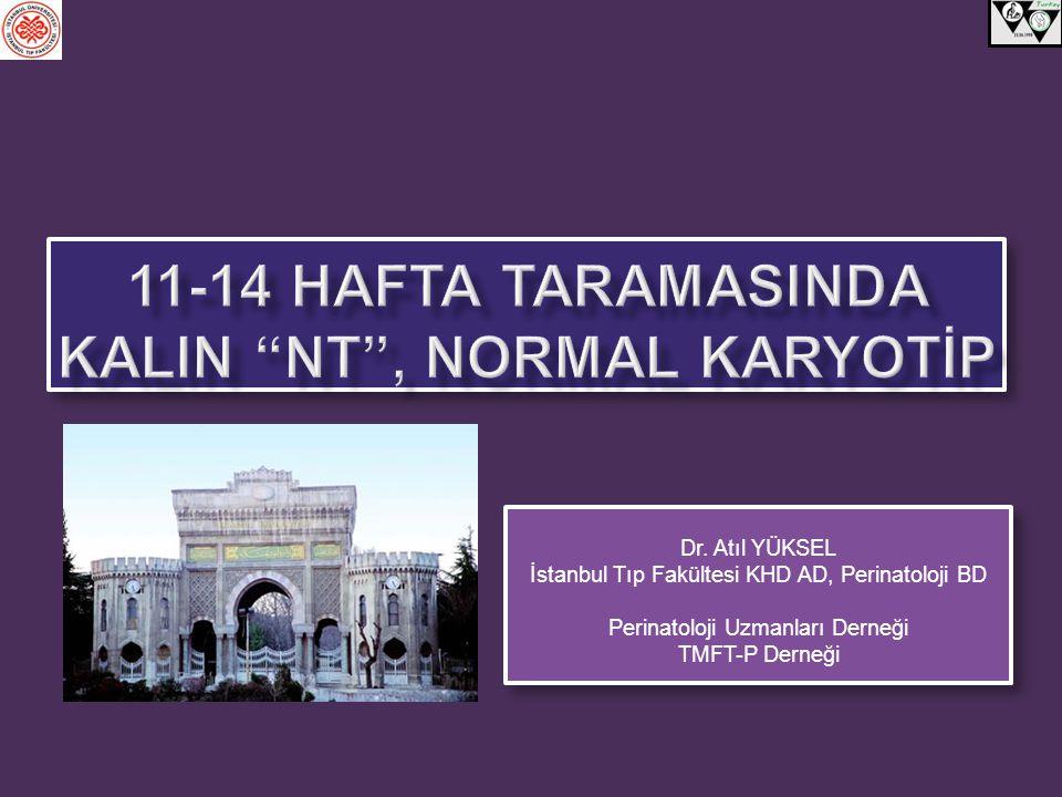 11-14 HAFTA TARAMASINDA KalIN NT , normal karyotİp