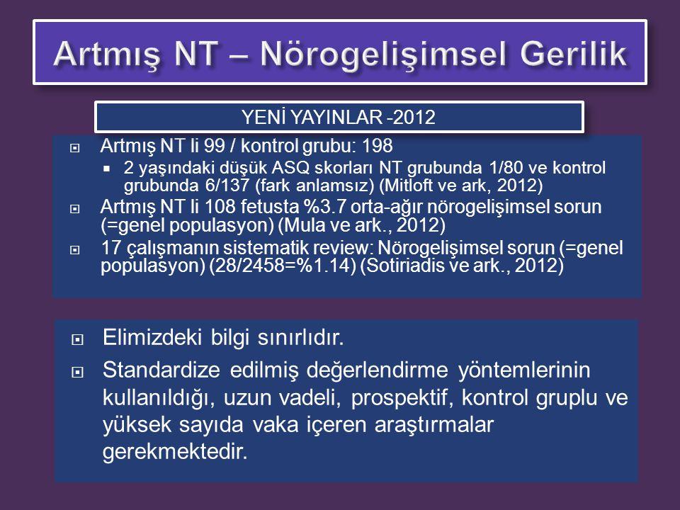 Artmış NT – Nörogelişimsel Gerilik
