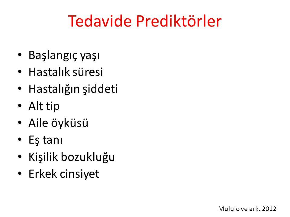 Tedavide Prediktörler