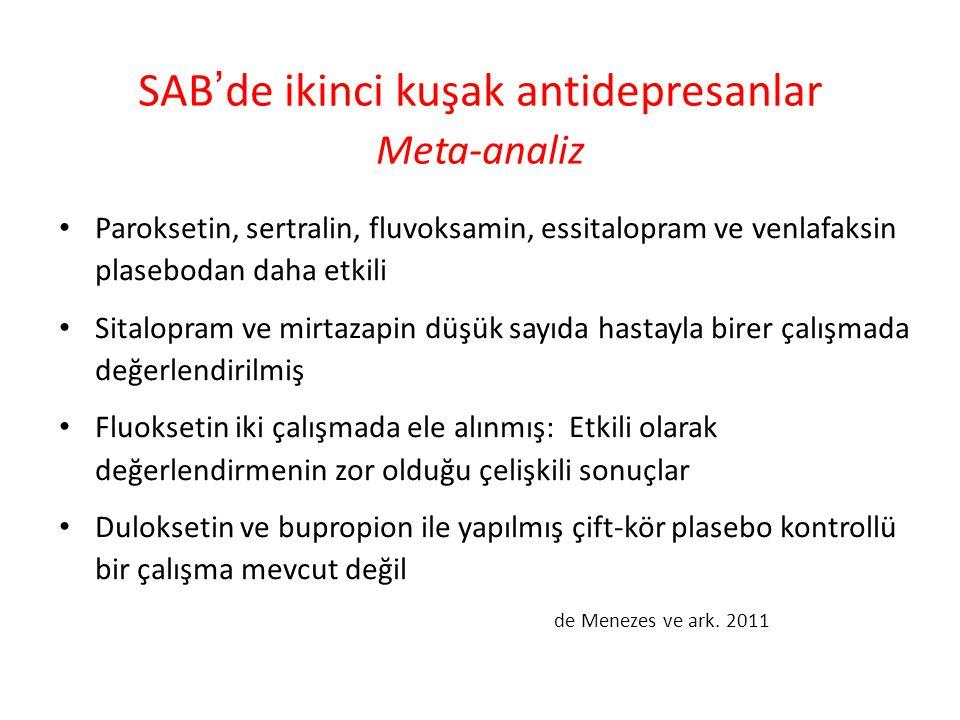SAB'de ikinci kuşak antidepresanlar Meta-analiz