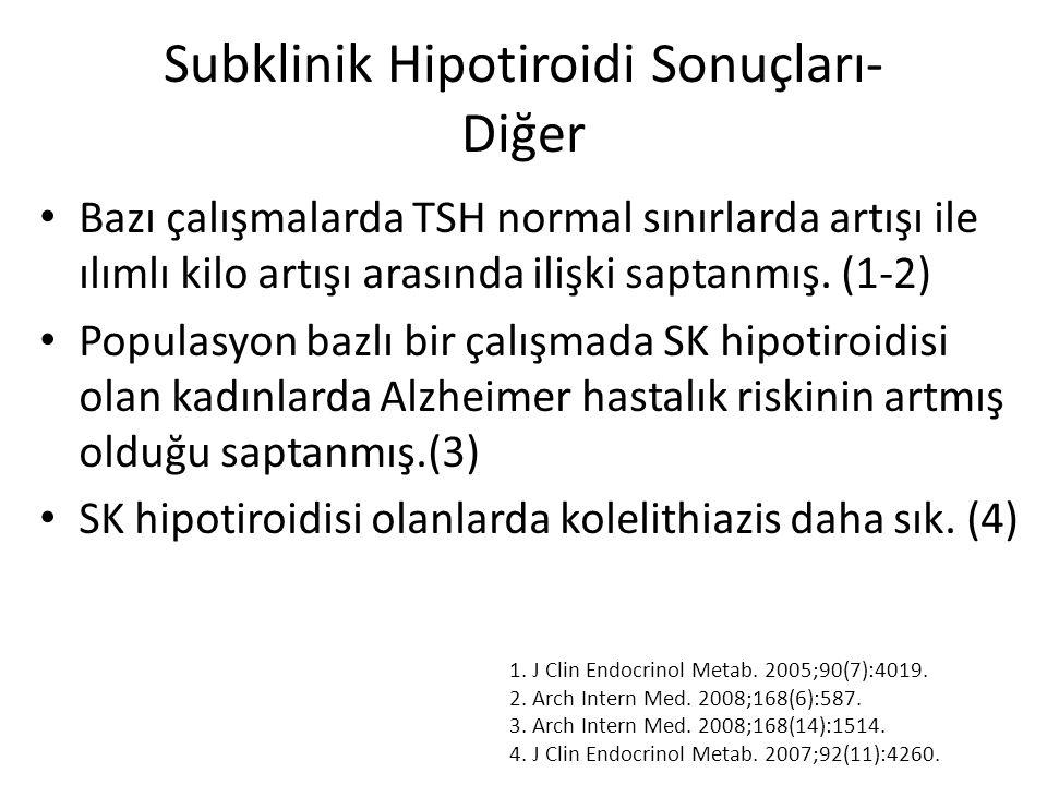 Subklinik Hipotiroidi Sonuçları- Diğer