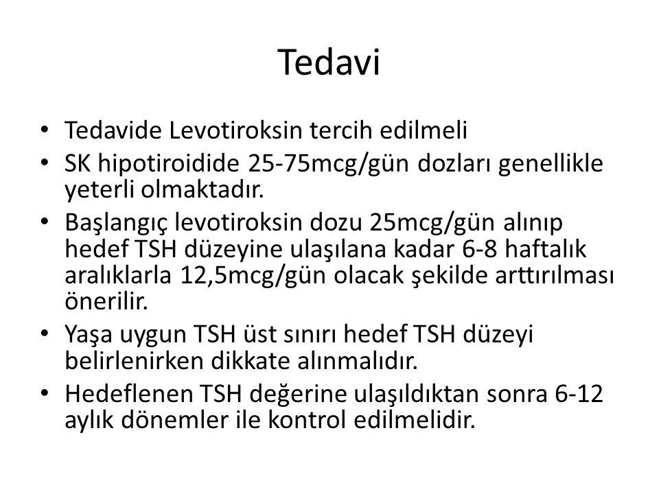 Tedavi Tedavide Levotiroksin tercih edilmeli