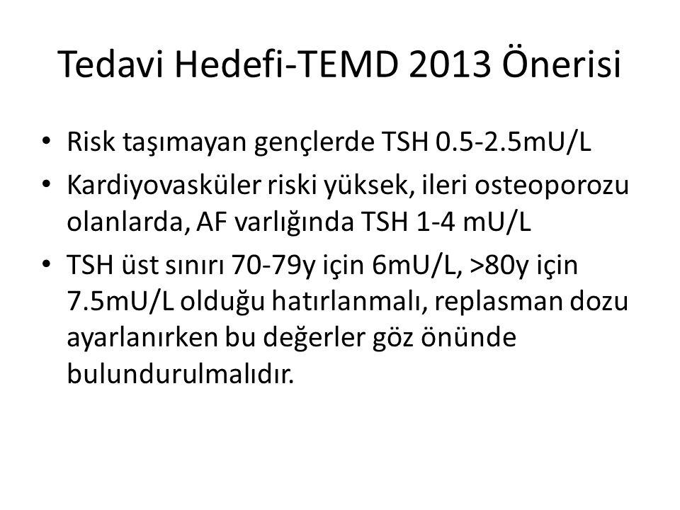 Tedavi Hedefi-TEMD 2013 Önerisi