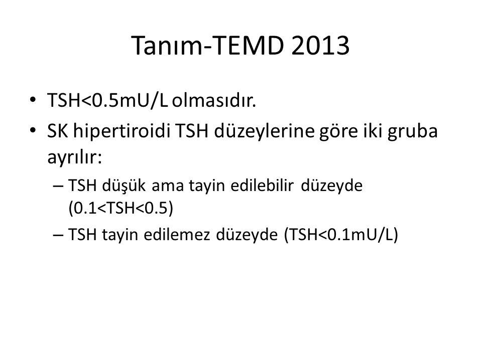 Tanım-TEMD 2013 TSH<0.5mU/L olmasıdır.