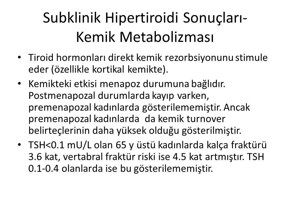 Subklinik Hipertiroidi Sonuçları- Kemik Metabolizması