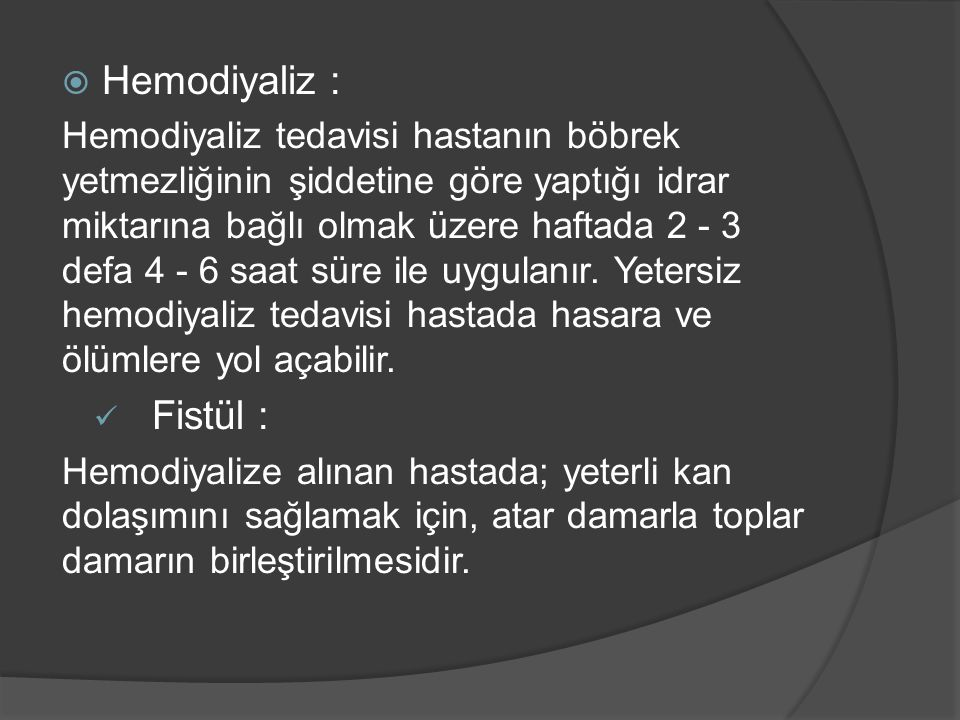 Hemodiyaliz :