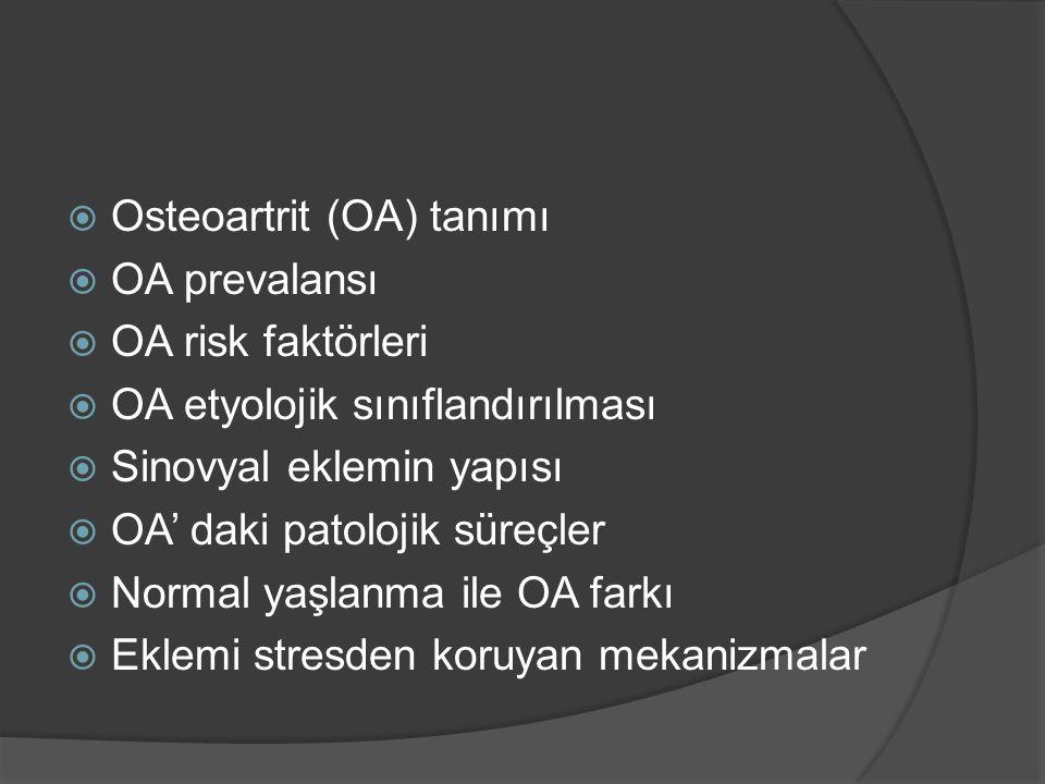 Osteoartrit (OA) tanımı