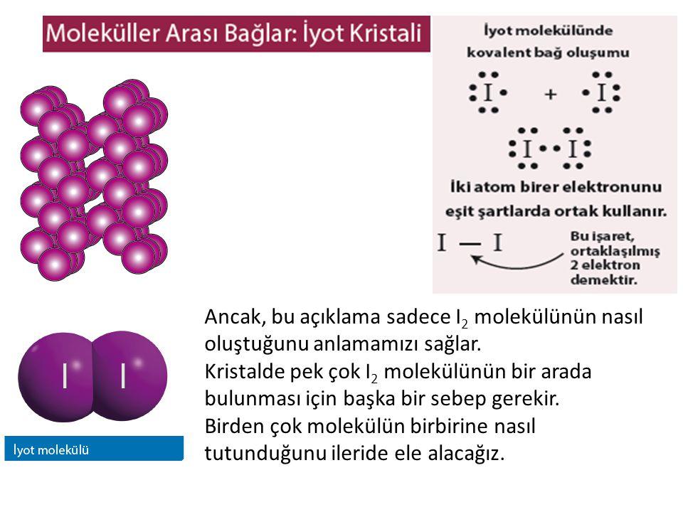 Ancak, bu açıklama sadece I2 molekülünün nasıl oluştuğunu anlamamızı sağlar.