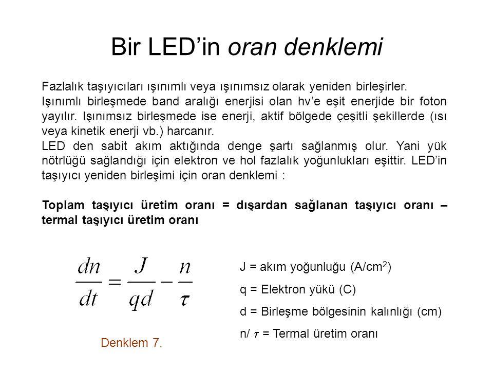 Bir LED'in oran denklemi