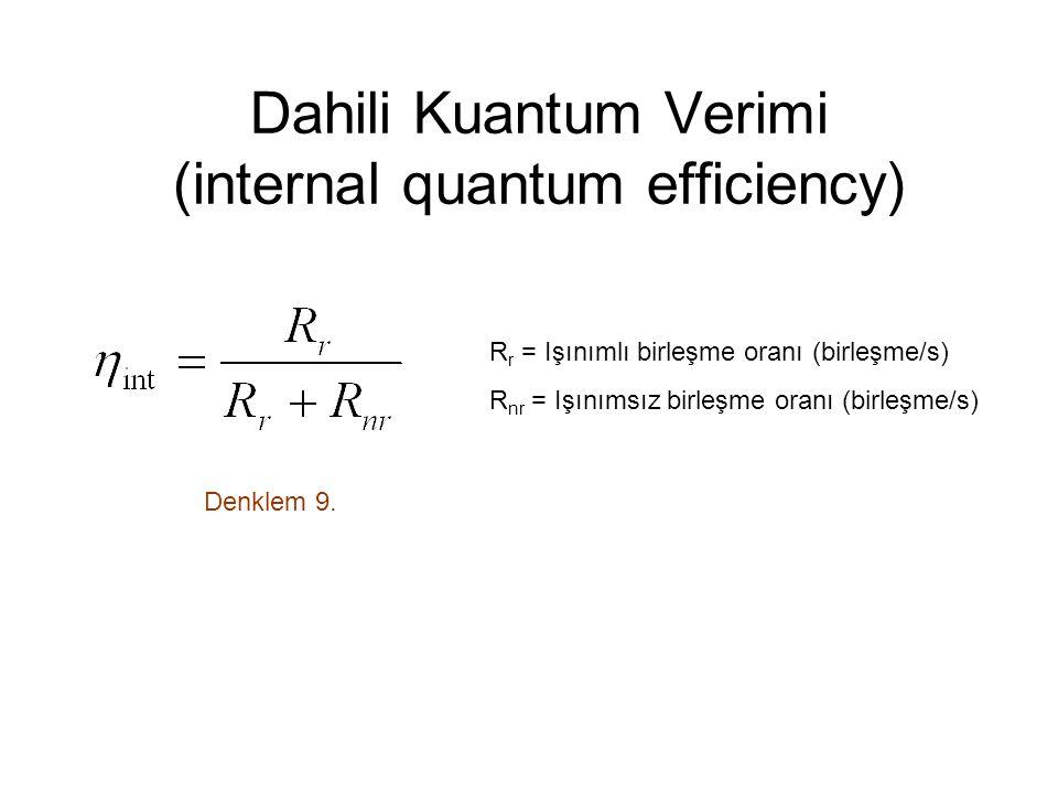 Dahili Kuantum Verimi (internal quantum efficiency)