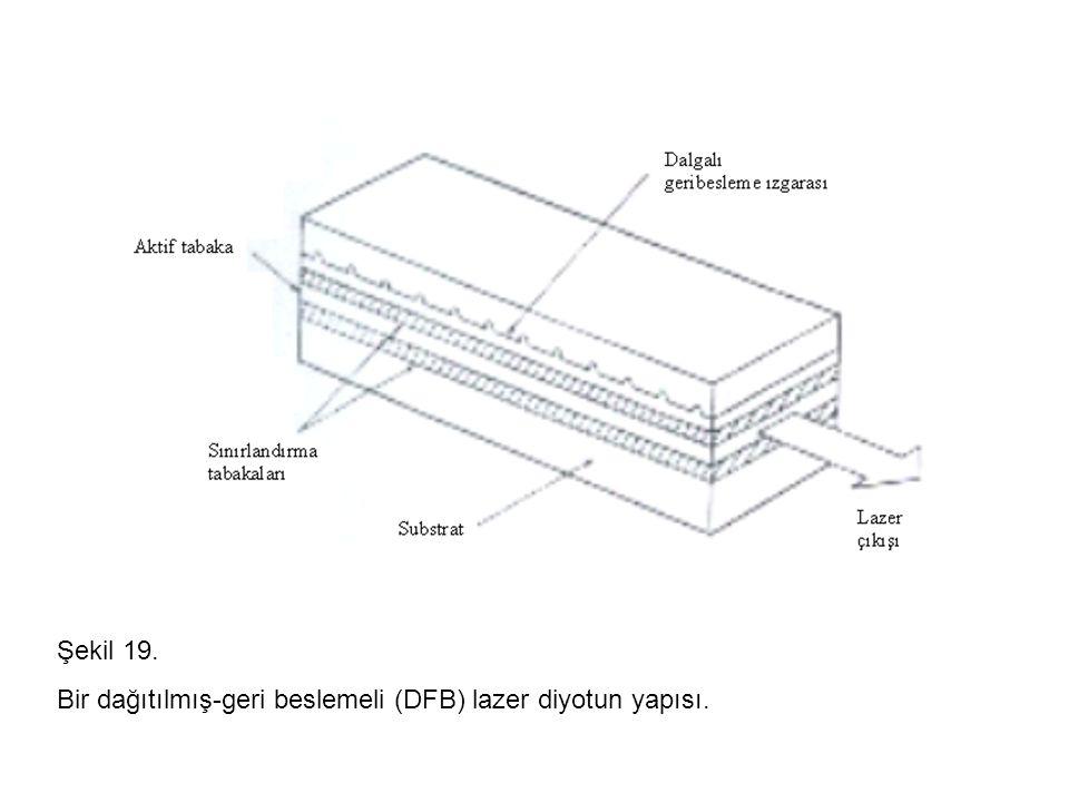 Şekil 19. Bir dağıtılmış-geri beslemeli (DFB) lazer diyotun yapısı.