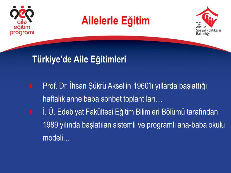 Ailelerle Eğitim Türkiye'de Aile Eğitimleri