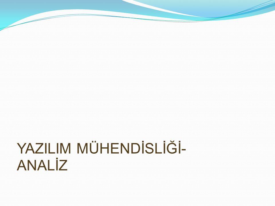YAZILIM MÜHENDİSLİĞİ-ANALİZ