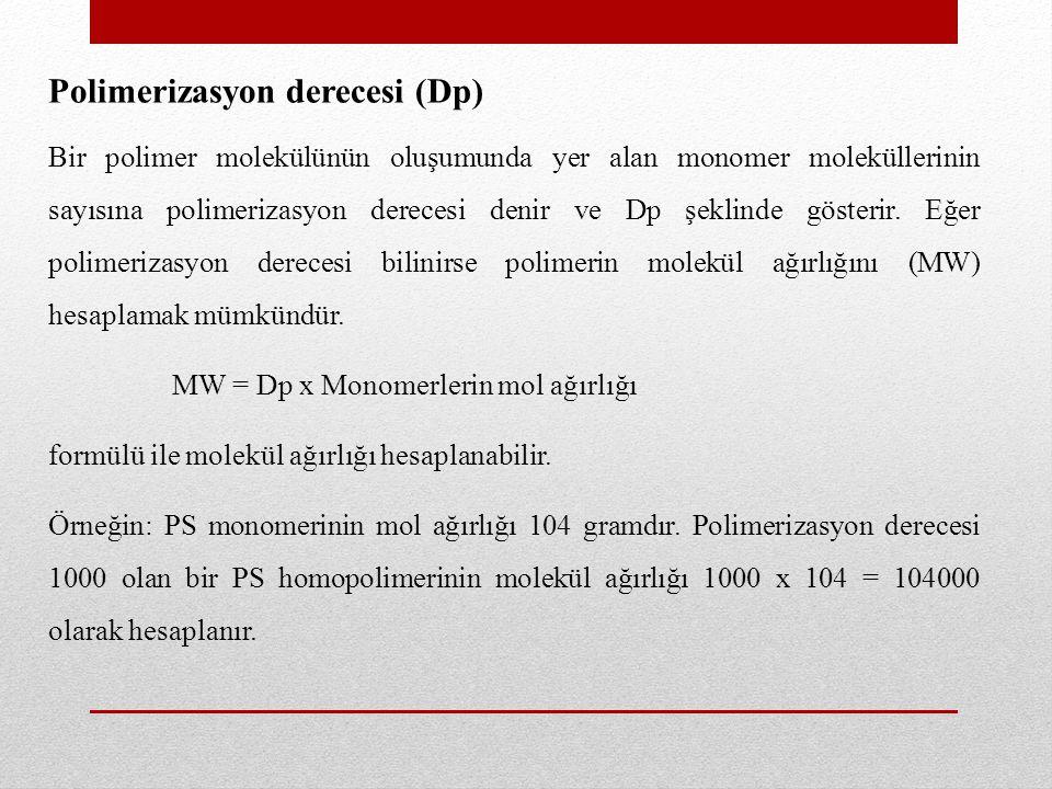 Polimerizasyon derecesi (Dp)