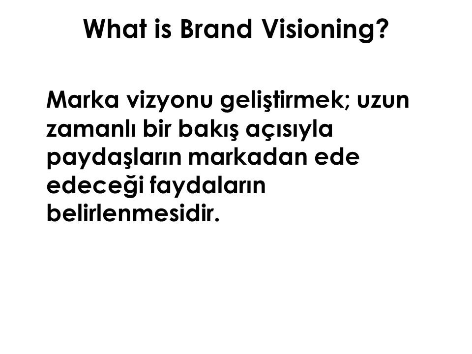 What is Brand Visioning