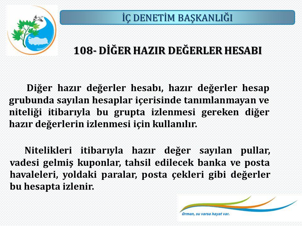 108- DİĞER HAZIR DEĞERLER HESABI