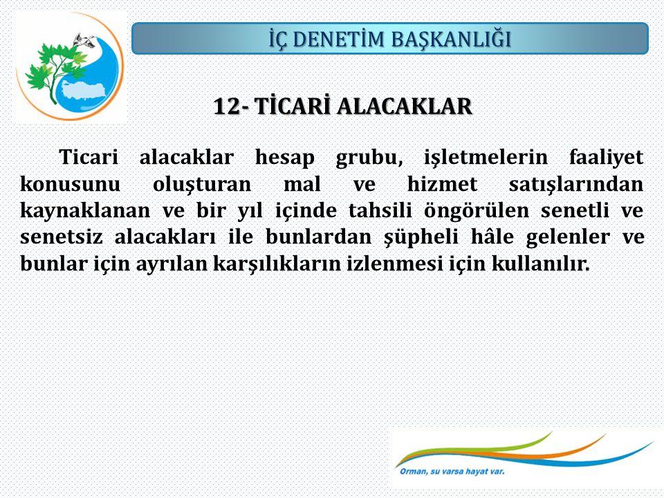 12- TİCARİ ALACAKLAR