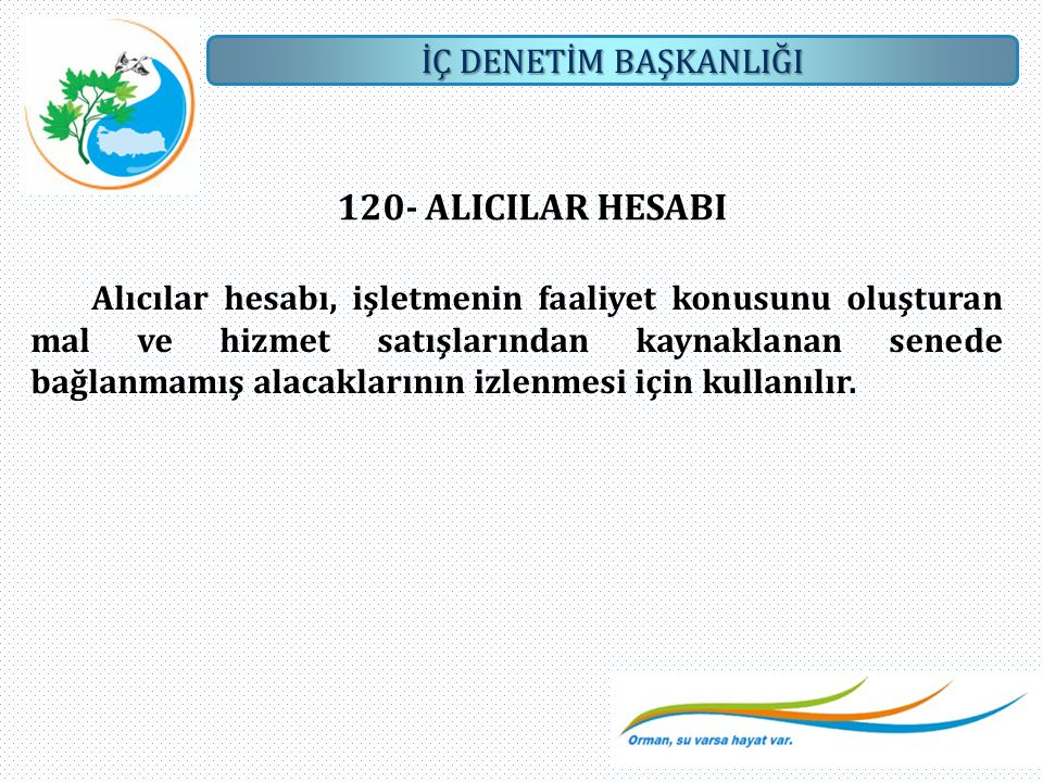 120- ALICILAR HESABI