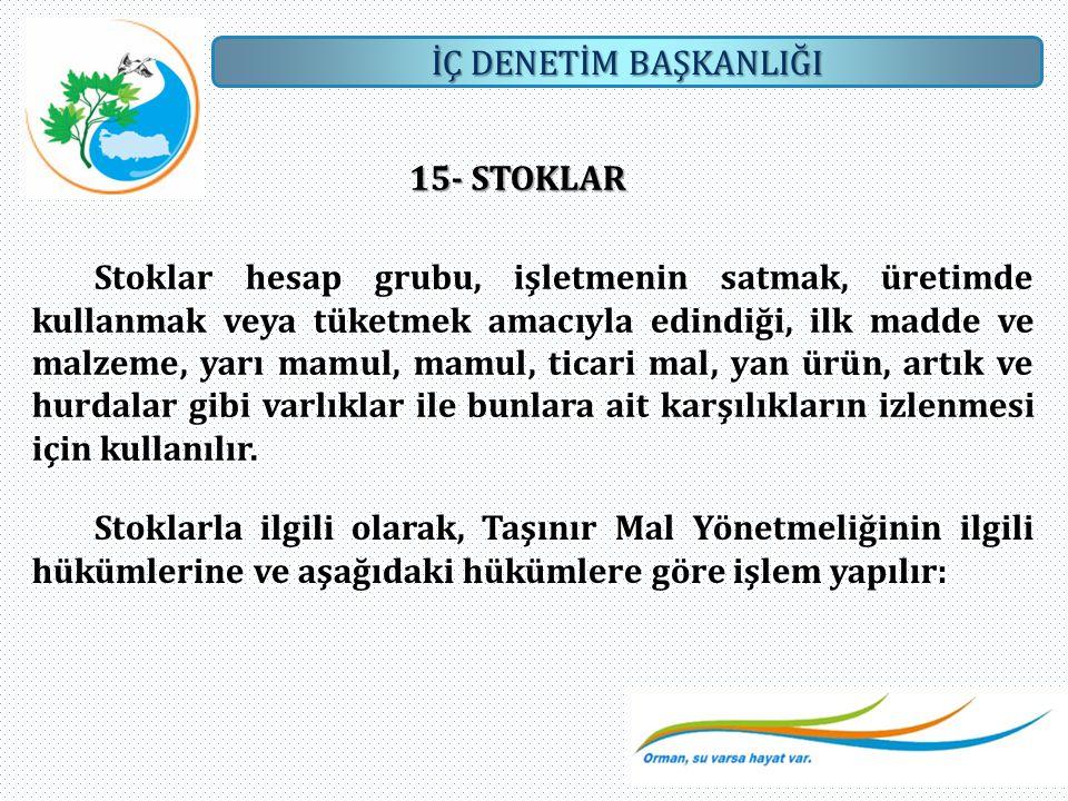 15- STOKLAR