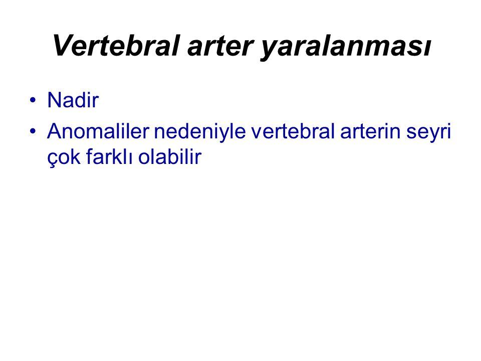 Vertebral arter yaralanması