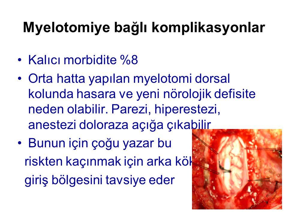 Myelotomiye bağlı komplikasyonlar