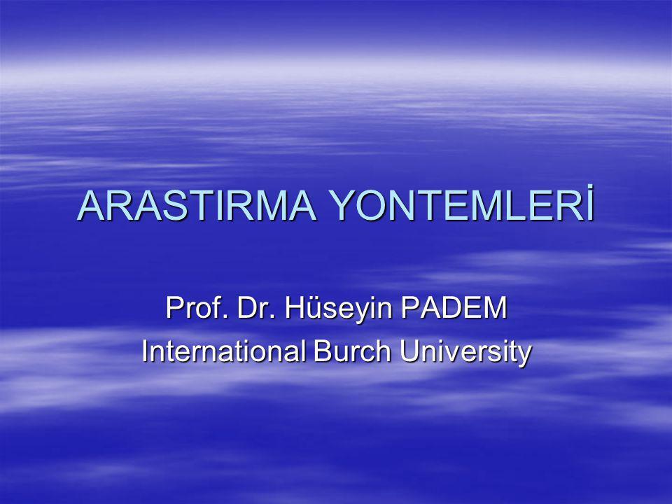 Prof. Dr. Hüseyin PADEM International Burch University