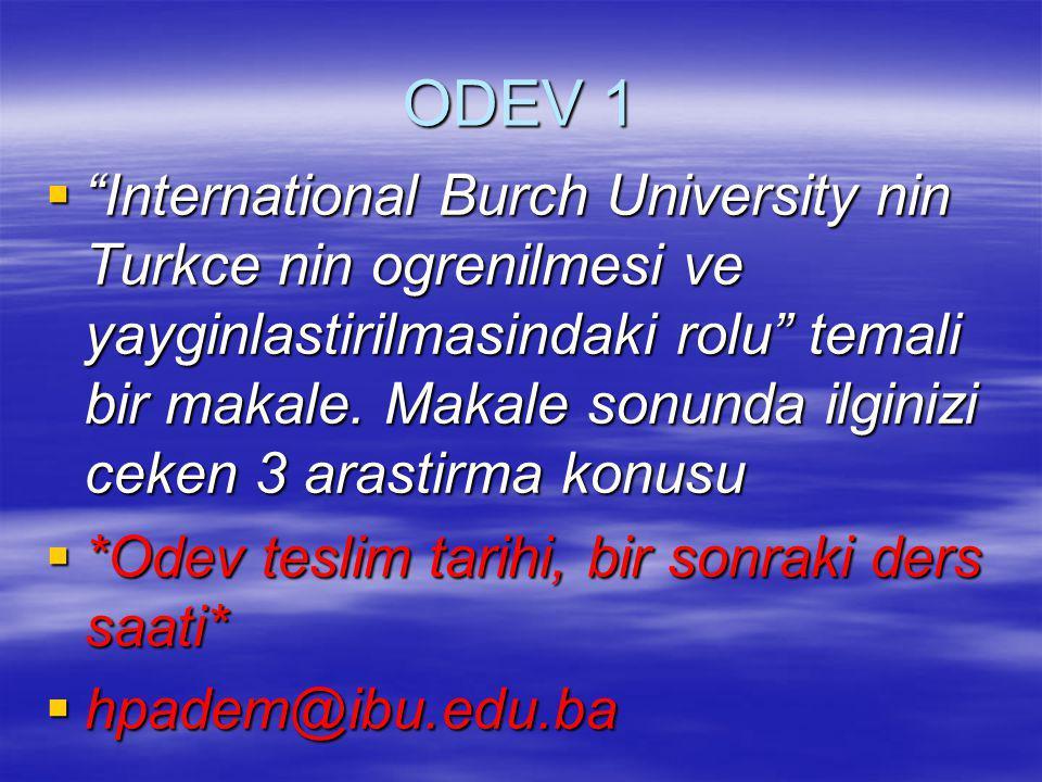 ODEV 1