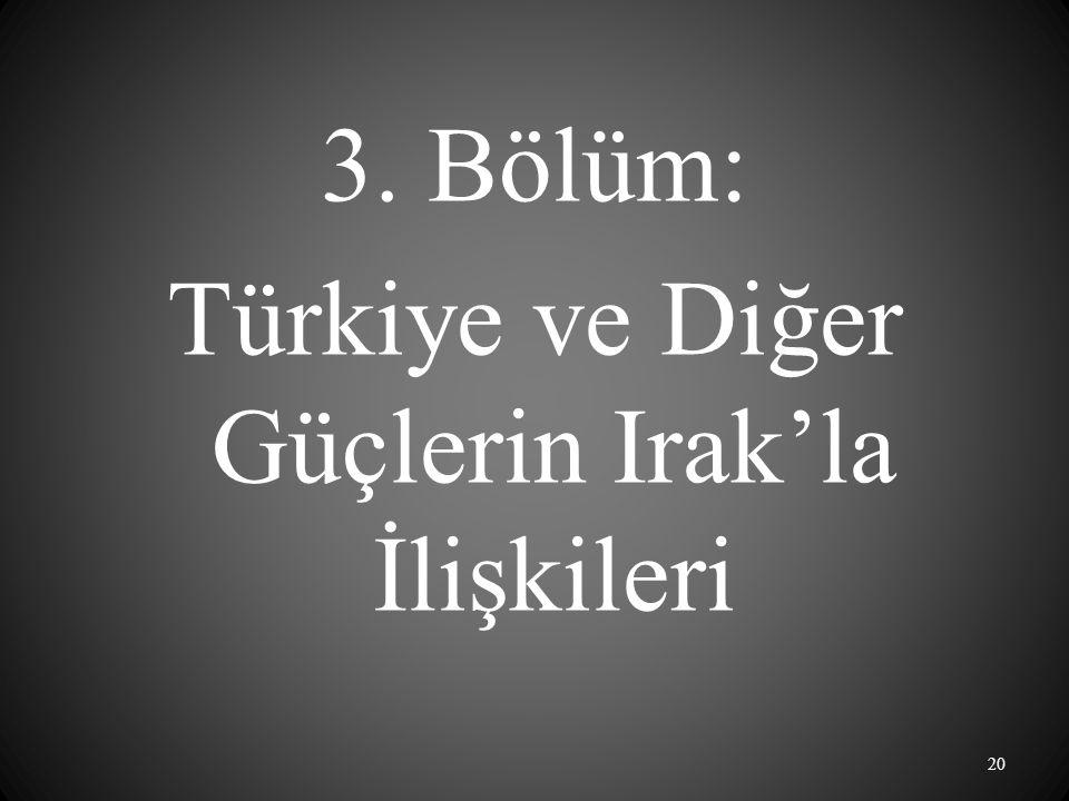 3. Bölüm: Türkiye ve Diğer Güçlerin Irak'la İlişkileri