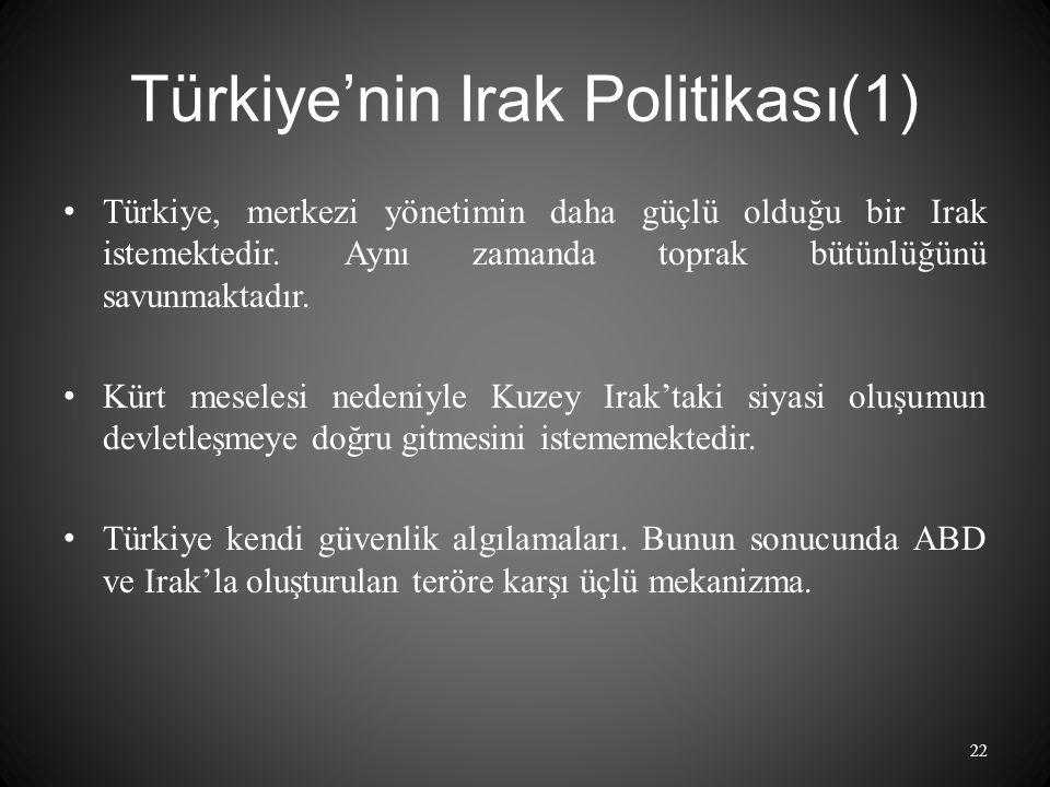 Türkiye'nin Irak Politikası(1)