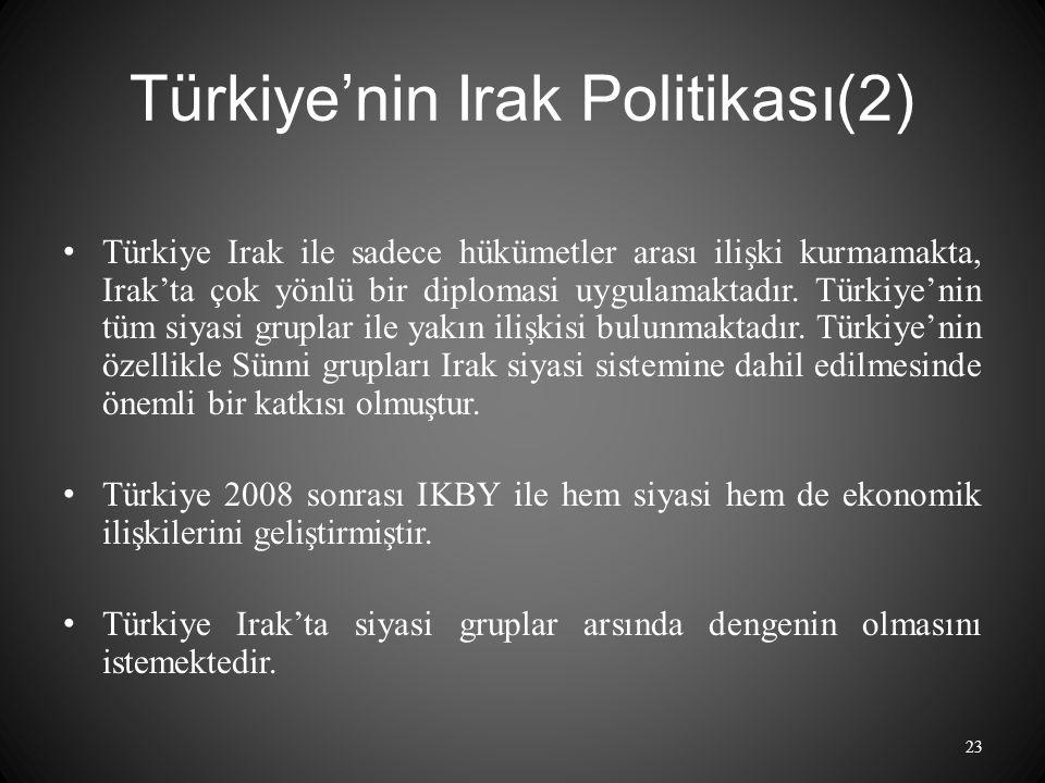 Türkiye'nin Irak Politikası(2)