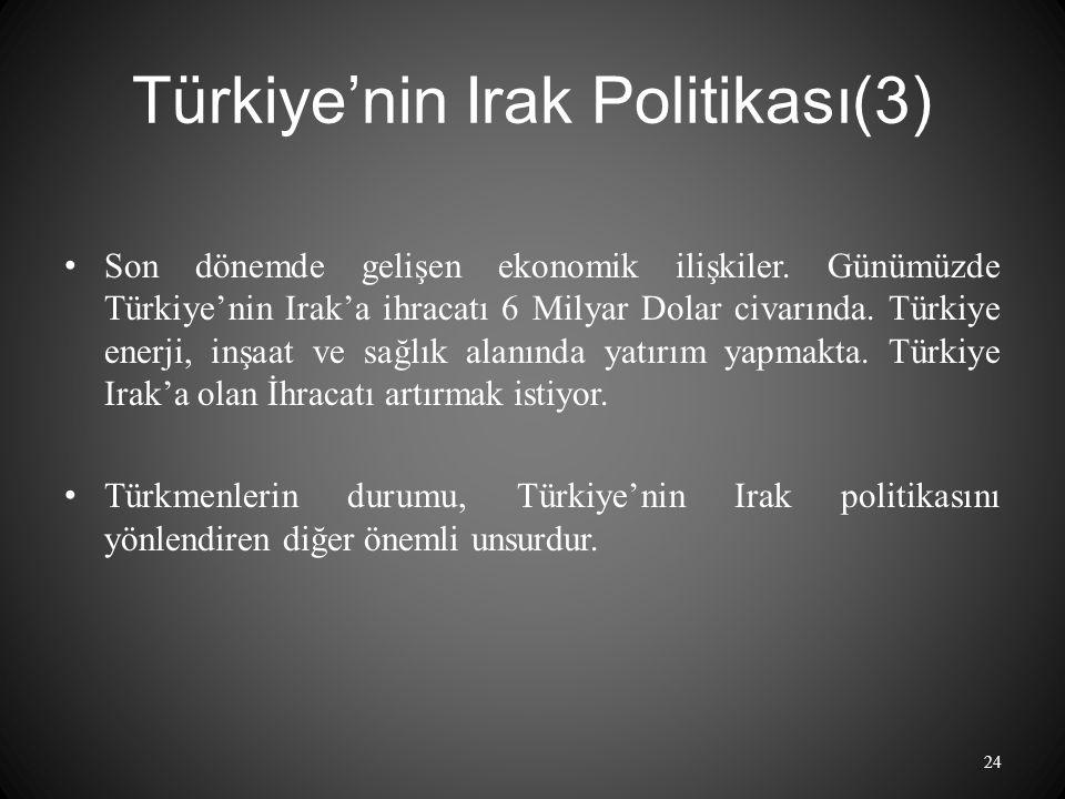 Türkiye'nin Irak Politikası(3)