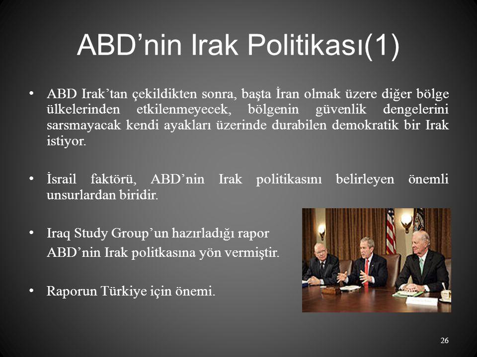 ABD'nin Irak Politikası(1)