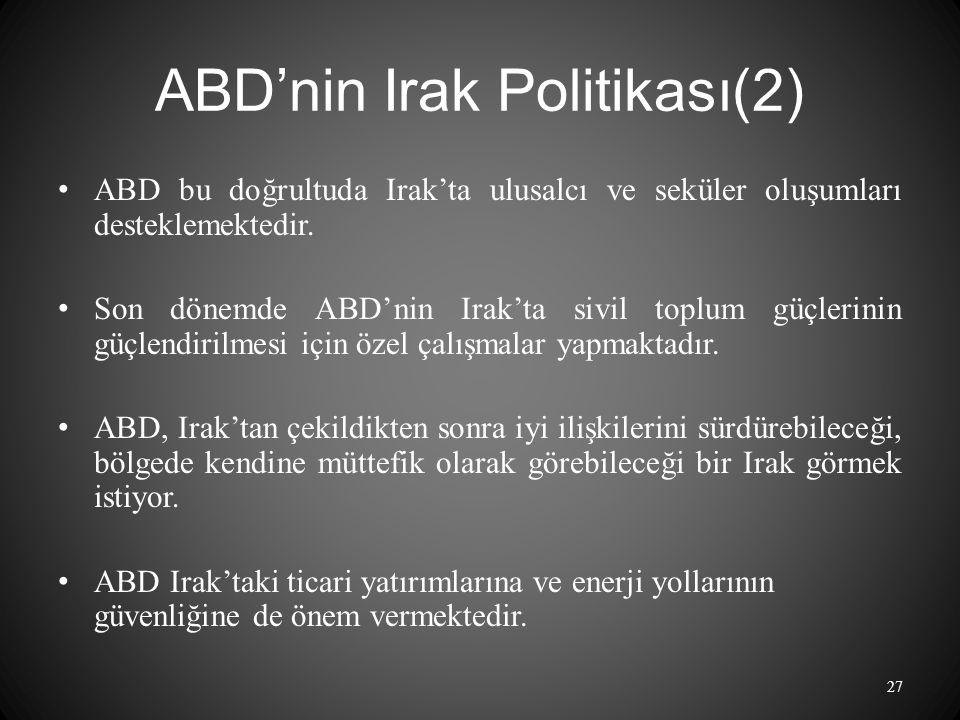 ABD'nin Irak Politikası(2)