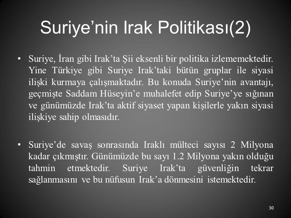 Suriye'nin Irak Politikası(2)