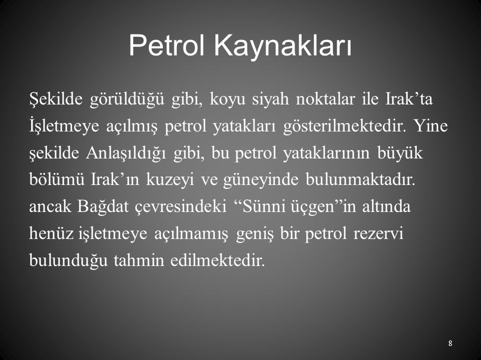 Petrol Kaynakları