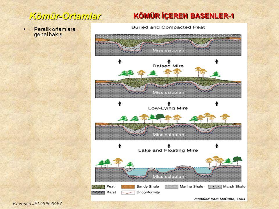 Kömür-Ortamlar KÖMÜR İÇEREN BASENLER-1 Paralik ortamlara genel bakış