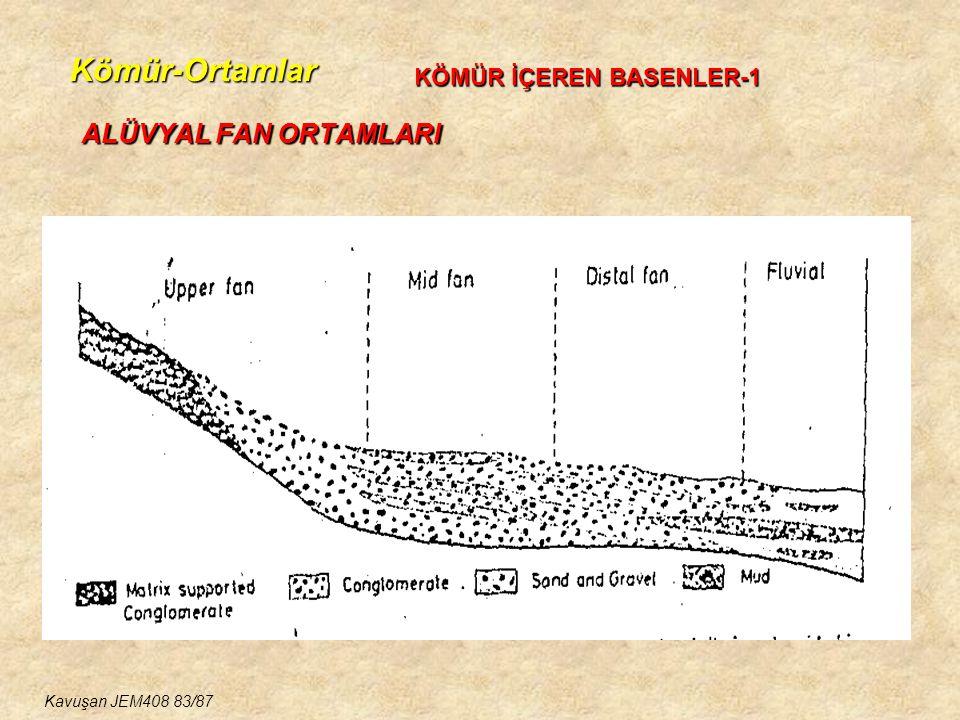Kömür-Ortamlar ALÜVYAL FAN ORTAMLARI KÖMÜR İÇEREN BASENLER-1
