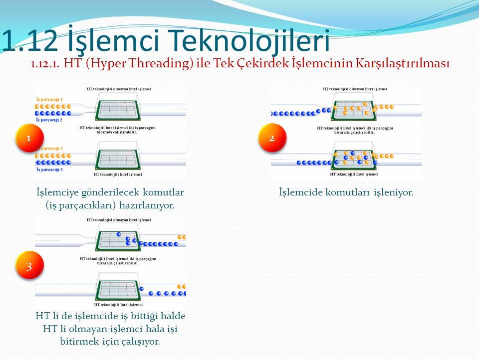 1.12 İşlemci Teknolojileri