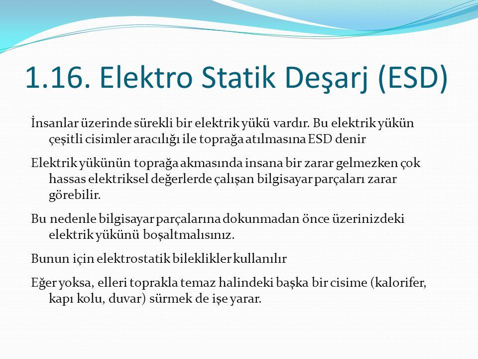 1.16. Elektro Statik Deşarj (ESD)