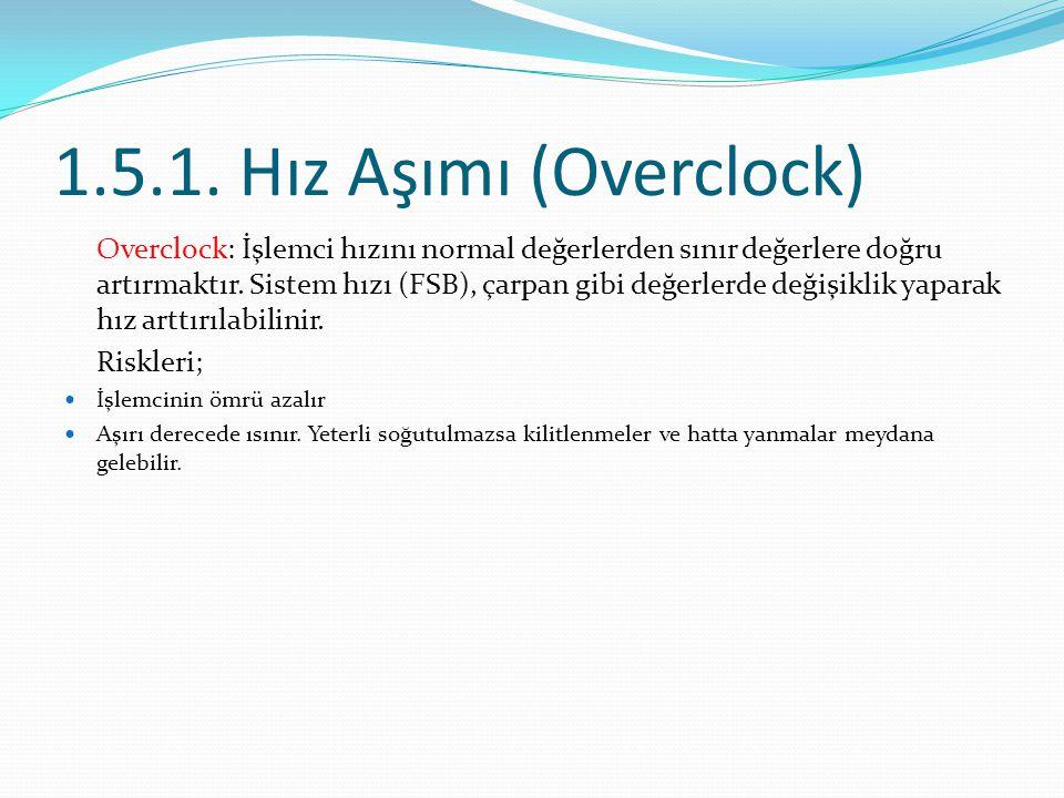 1.5.1. Hız Aşımı (Overclock)