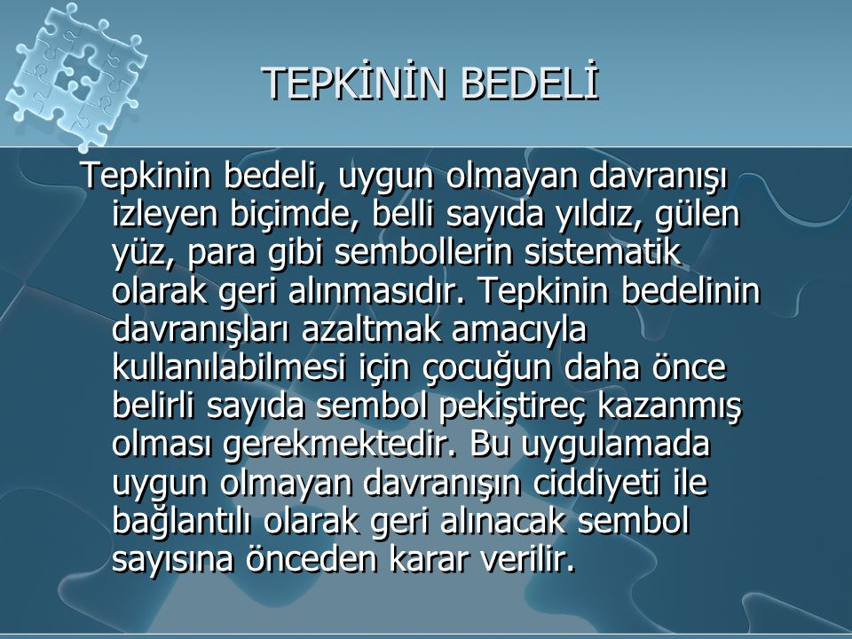 TEPKİNİN BEDELİ