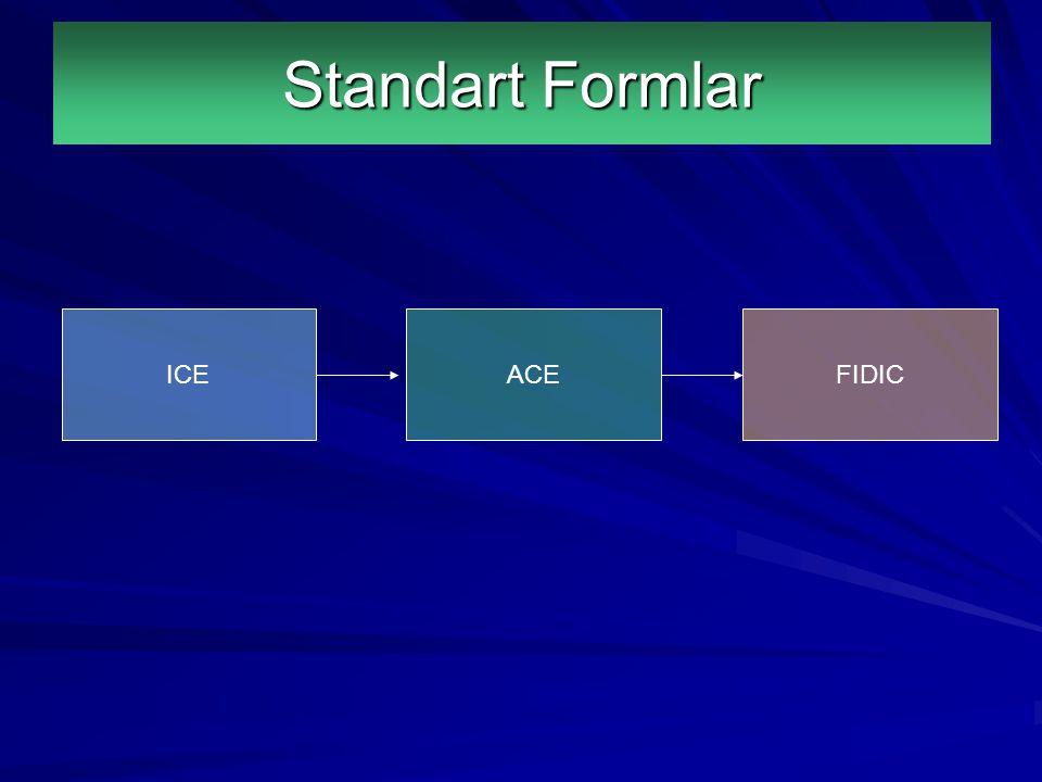 Standart Formlar ICE ACE FIDIC