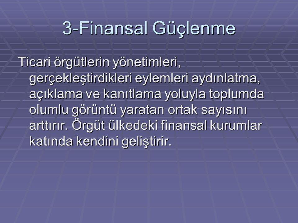 3-Finansal Güçlenme