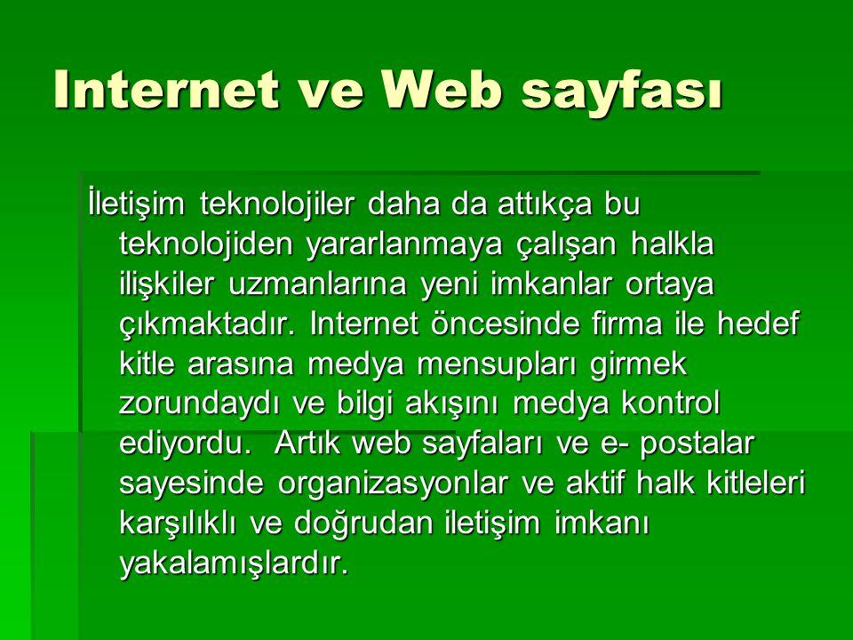 Internet ve Web sayfası
