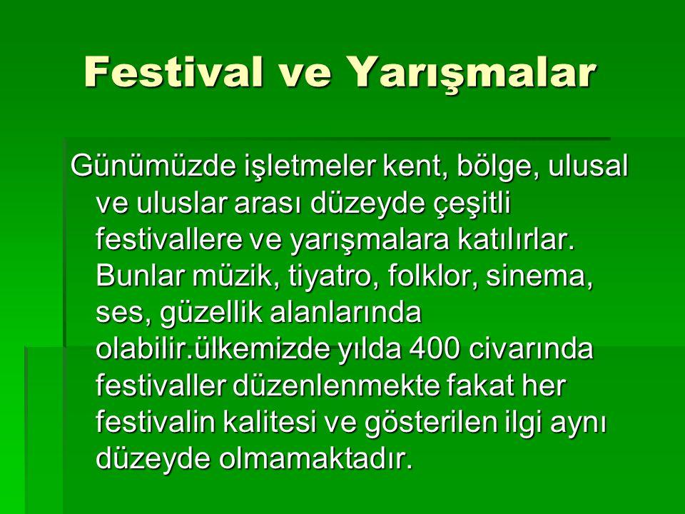 Festival ve Yarışmalar