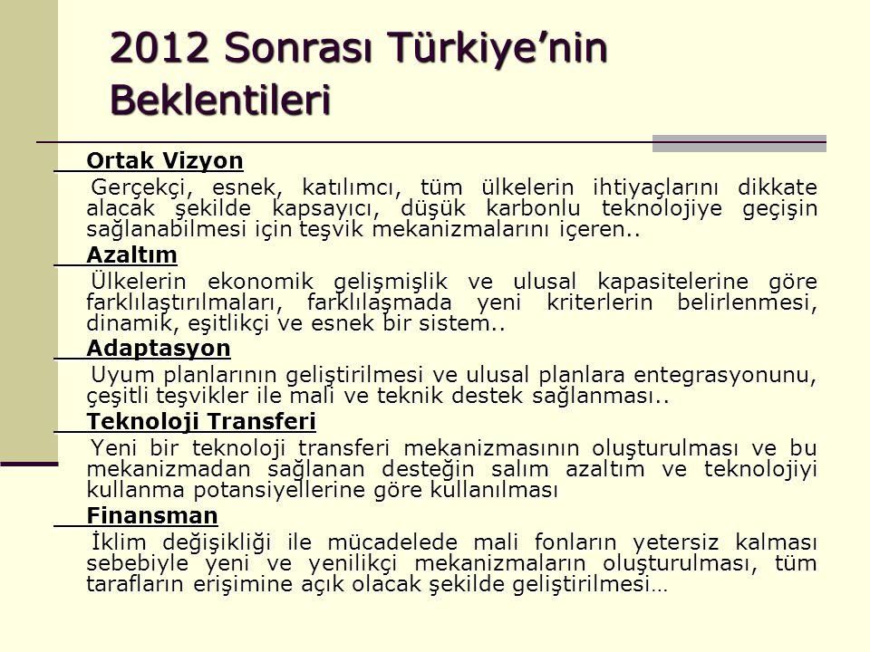2012 Sonrası Türkiye'nin Beklentileri