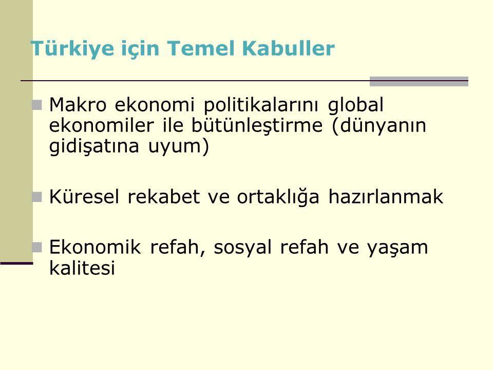 Türkiye için Temel Kabuller